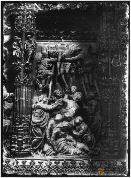 Descendimiento de Cristo, Retablo mayor de la Catedral de Huesca.